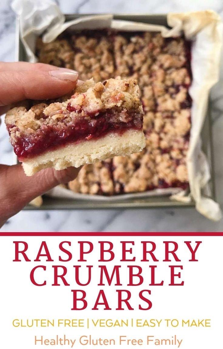 Raspberry Crumble Bars gluten free #gluttenfreerecipes www.healthgffamily.com