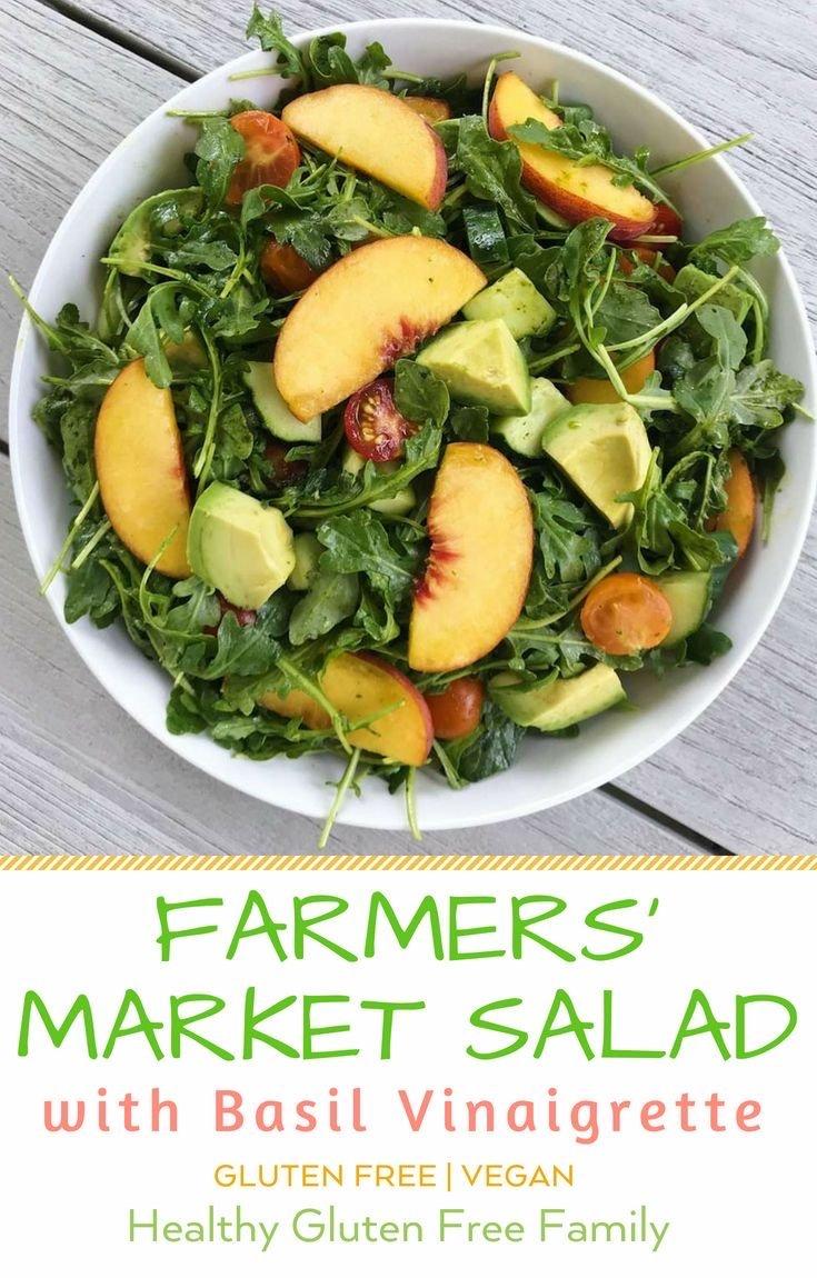 farmers market salad basil vinaigrette gluten free #glutenfreerecipes www.healthygffamily.com