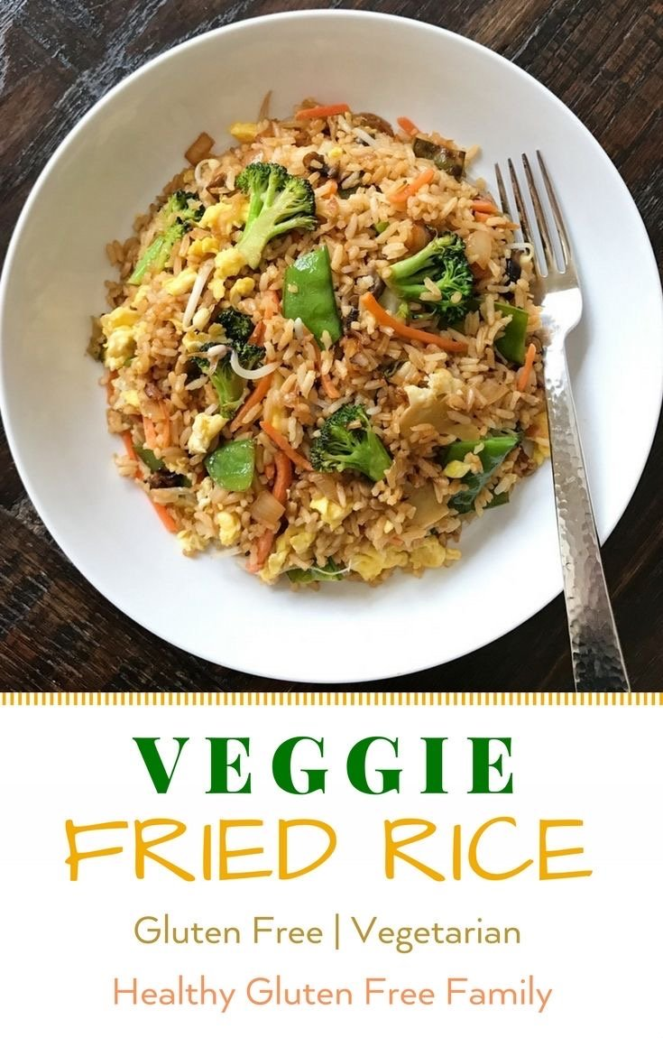 gluten free vegetable fried rice #glutenfree #glutenfreerecipes www.healthygffamily.com