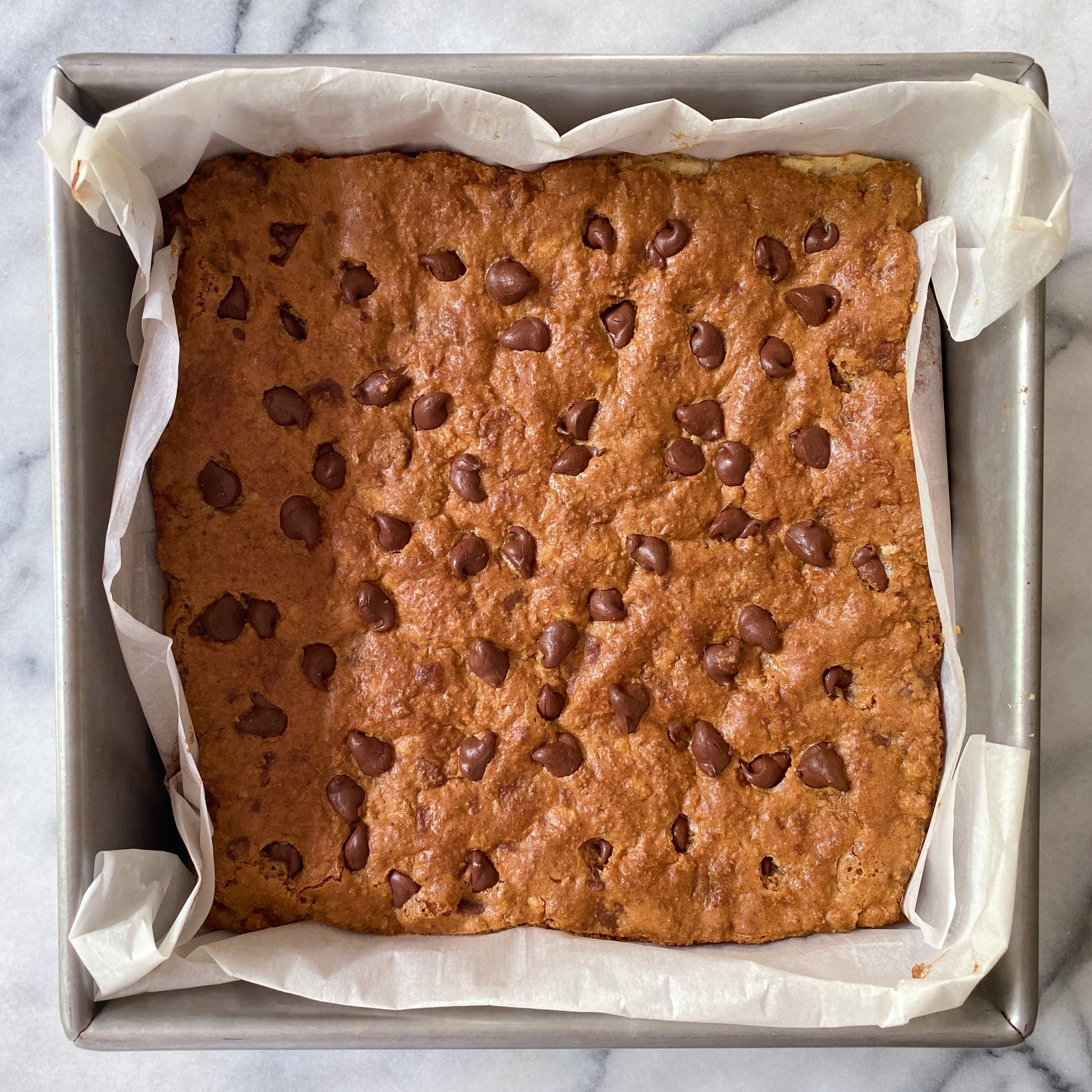 Chocolate Chip Dream Bars gluten free #glutenfreerecipes www.healthygffamily.com