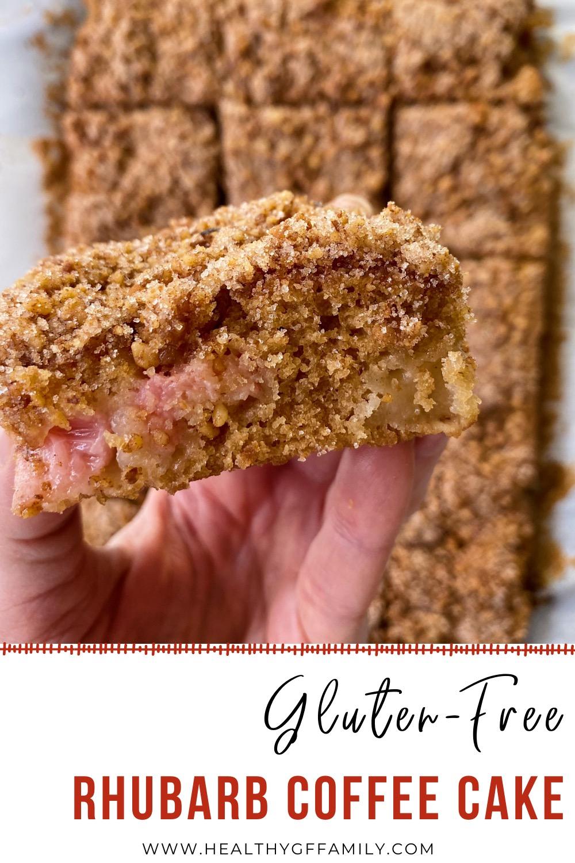 rhubarb coffee cake gluten free #glutenfreerecipes www.healthygffamily.com