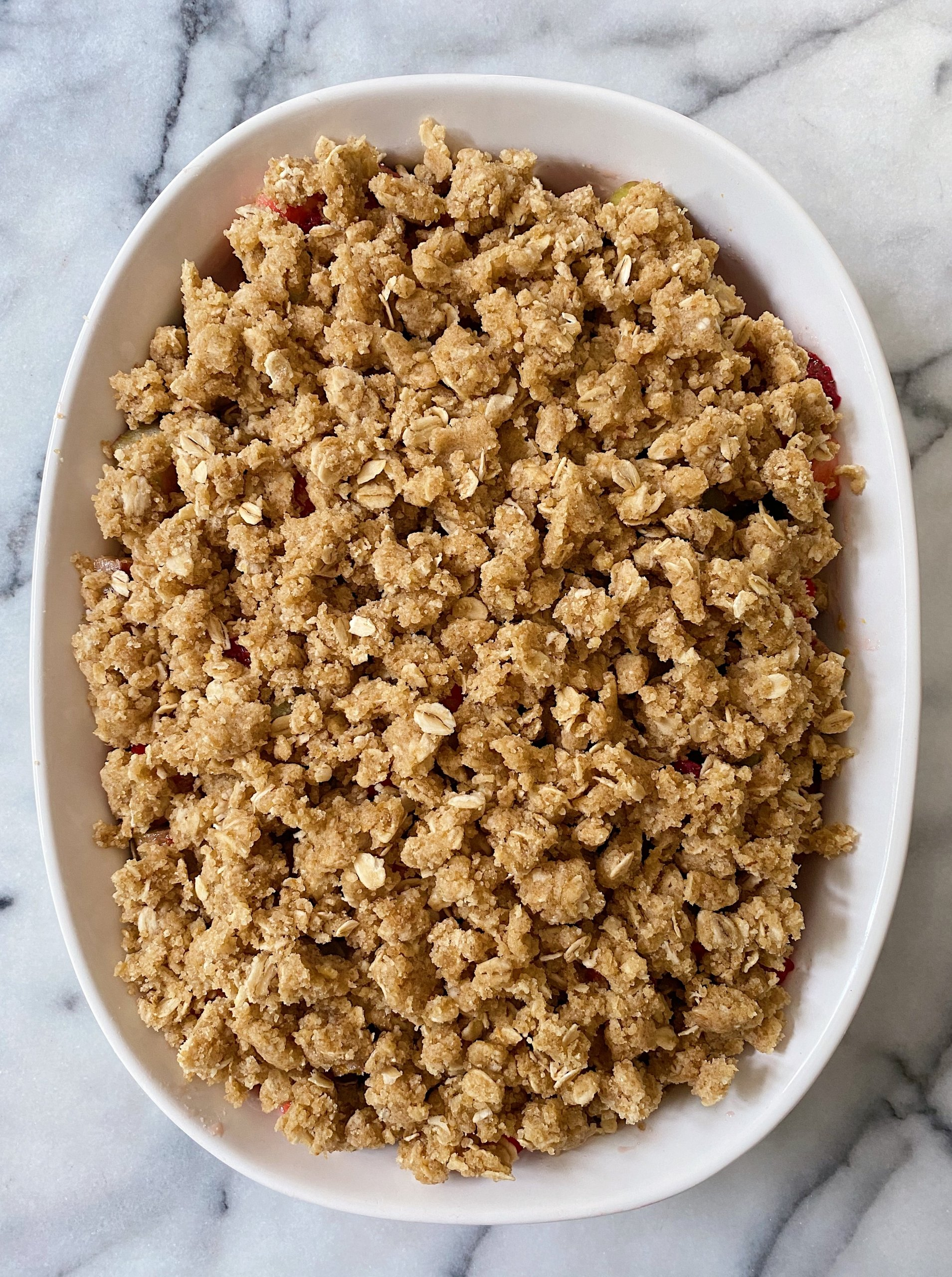 Strawberry Rhubarb Crumble gluten free #glutenfreerecipes www.healthygffamily.com
