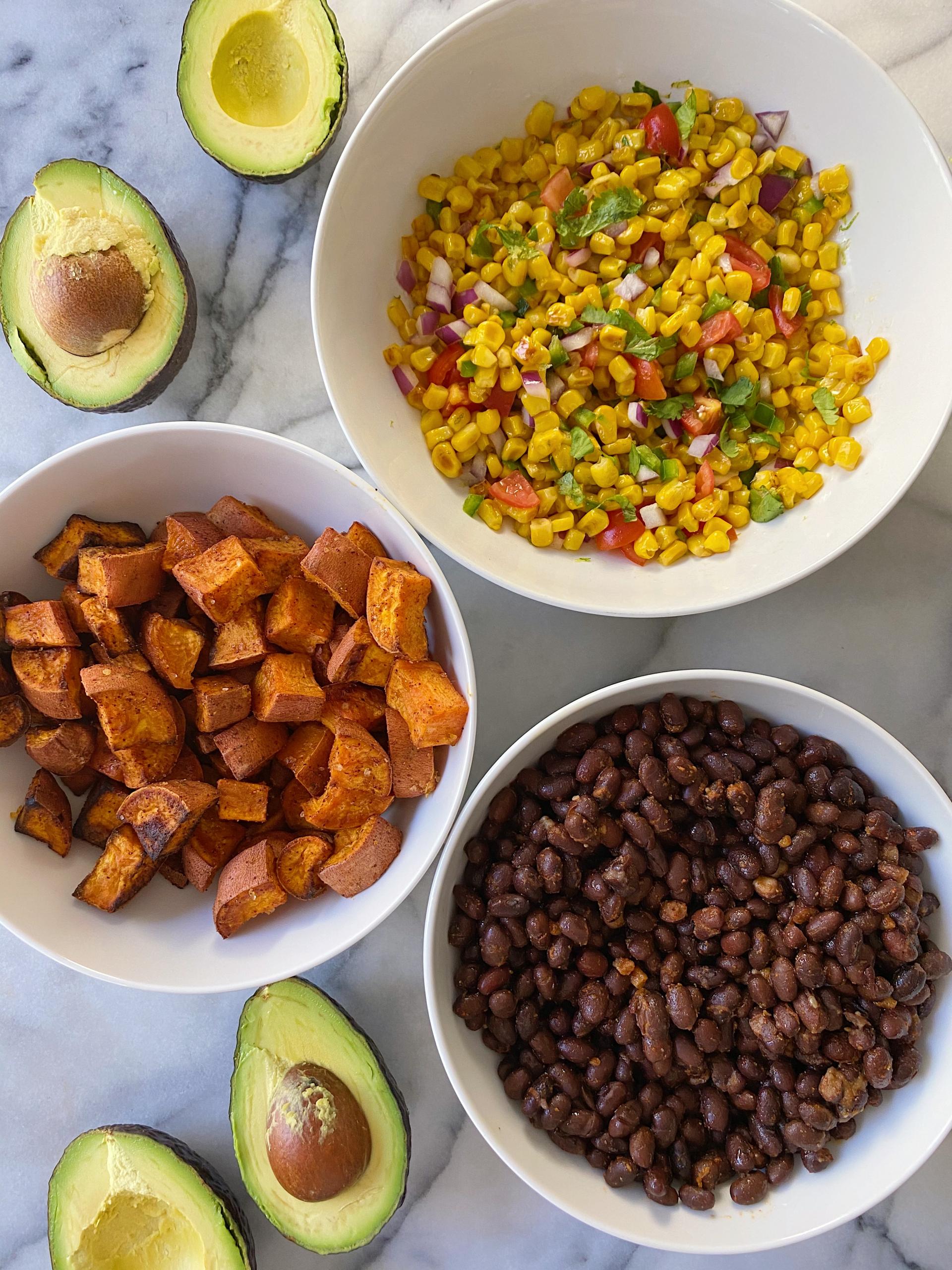 Black Bean Sweet Potato Tacos Corn Salsa Easy Recipe gluten free www.healthygffamily.com