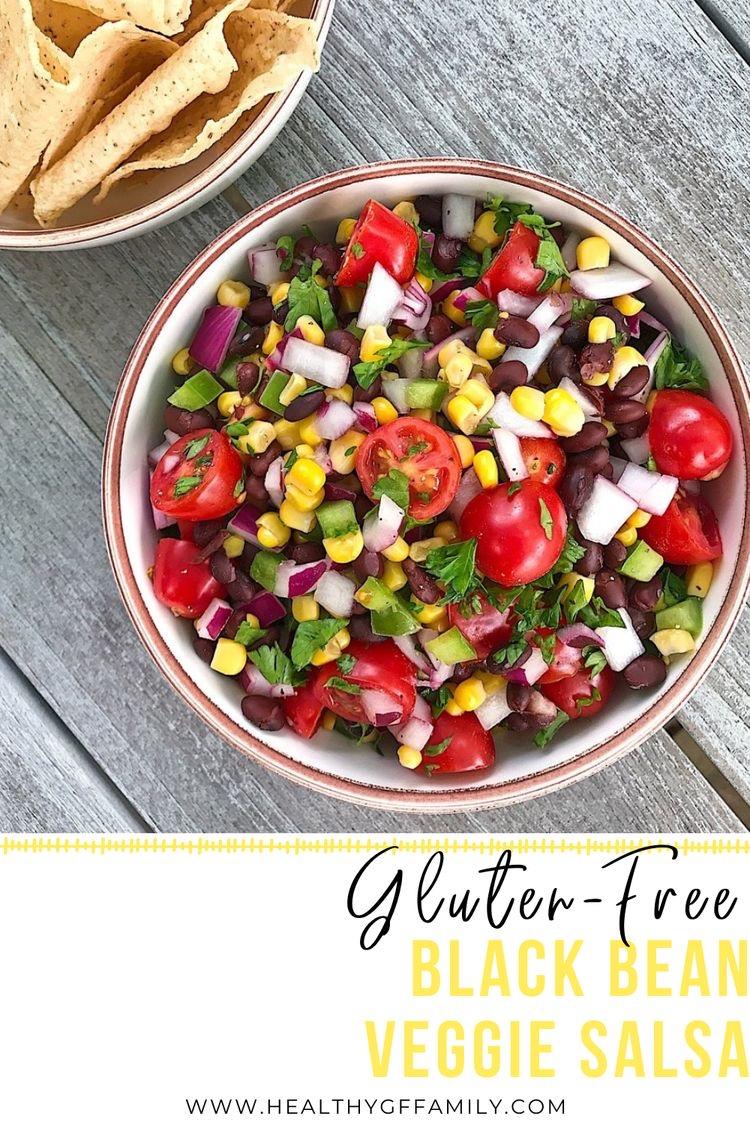 Easy Black Bean Veggie Salsa gluten-free www.healthygffamily.com