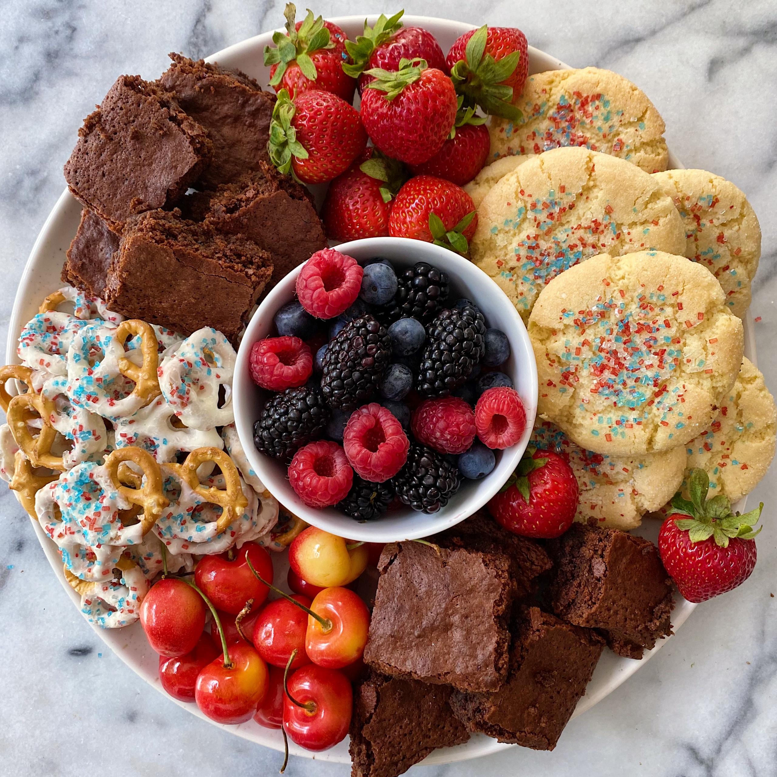 4th of July Dessert Board gluten free www.healtthygffamily.com