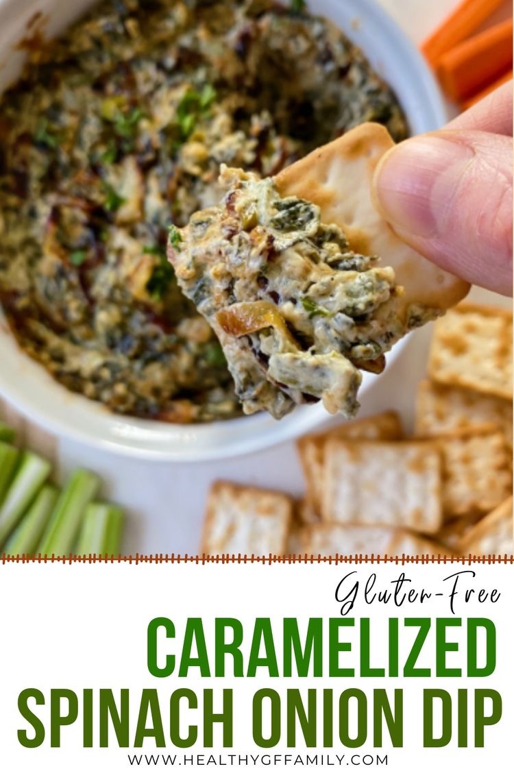 Warm Spinach Caramelized onion dip gluten free #glutenfreerecipes www.healthygffamily.com