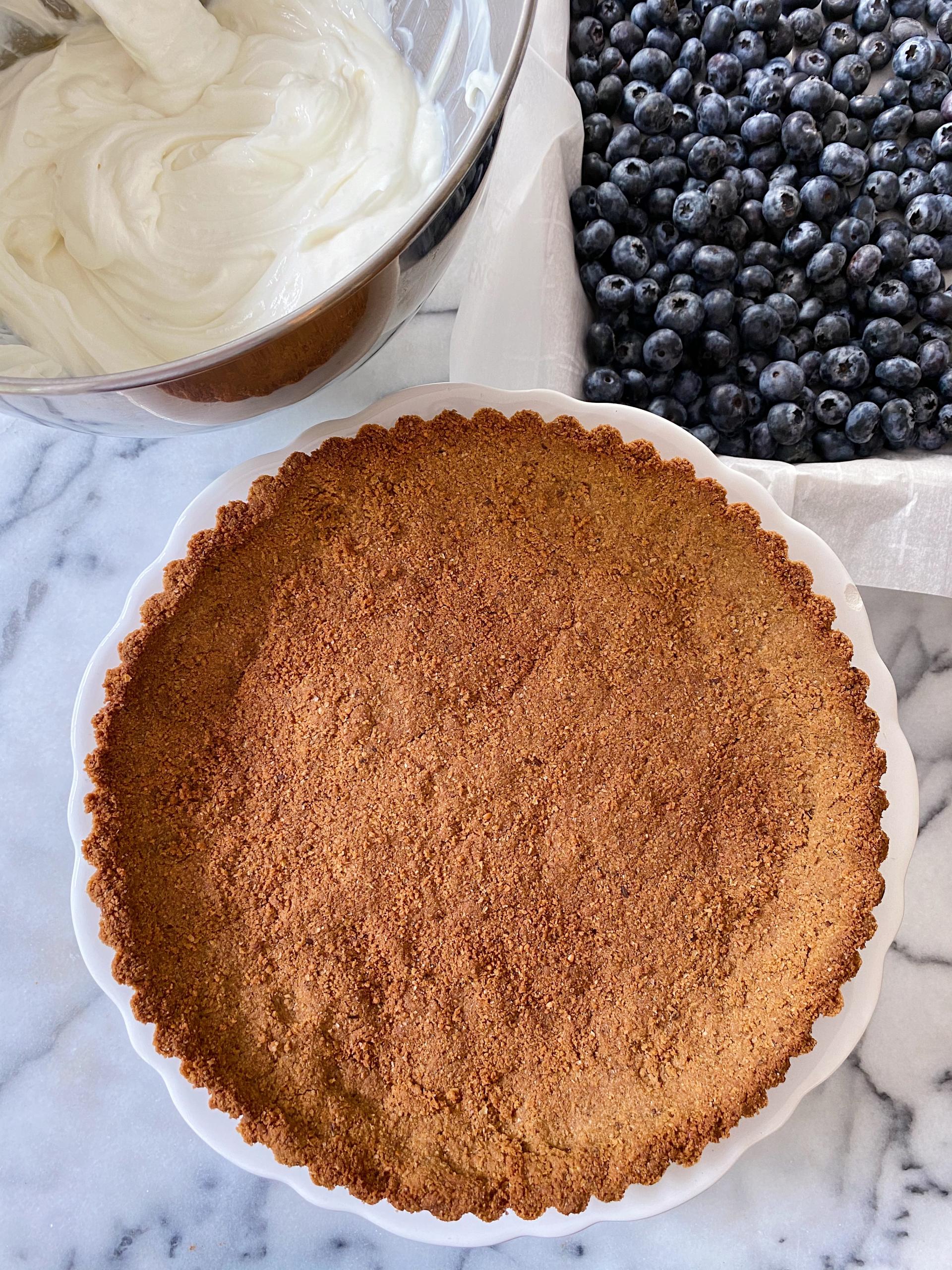 blueberry tart yogurt filling gluten free easy www.healthygffamily.com