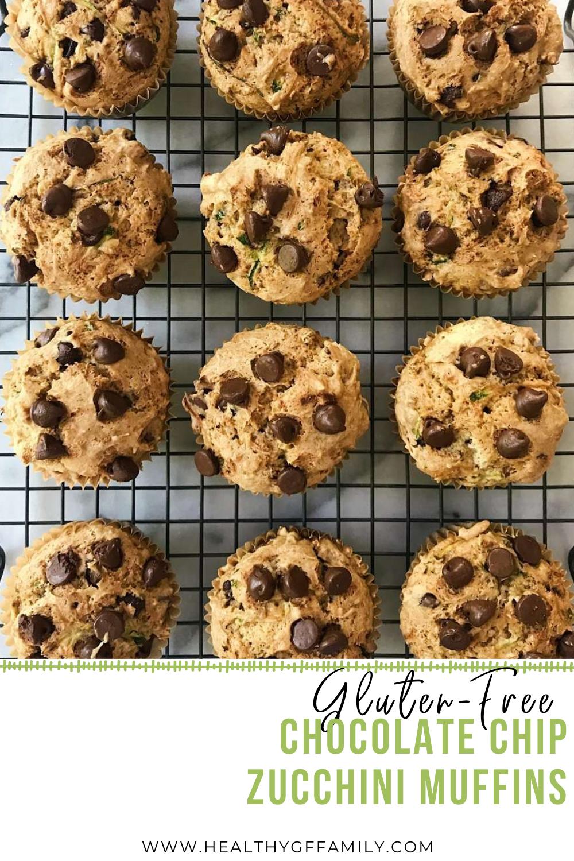 chocolate chip zucchini muffins gluten-free www.healthygffamily.com