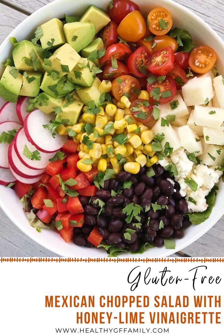 Mexican Chopped Salad honey lime dressing www.healthygffamily.com