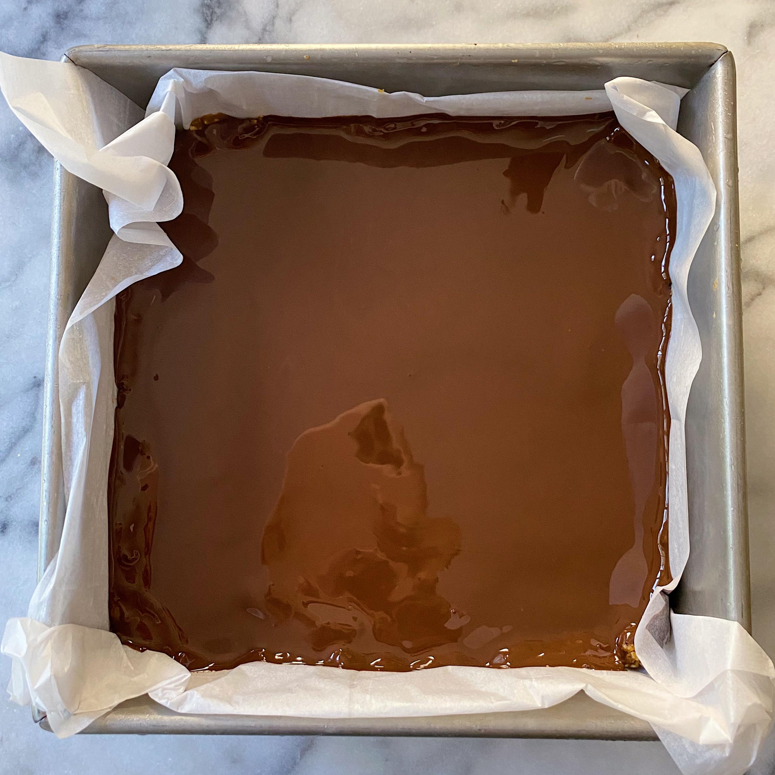 Pumpkin Chocolate No Bake Bars gluten free www.healthygffamily.com