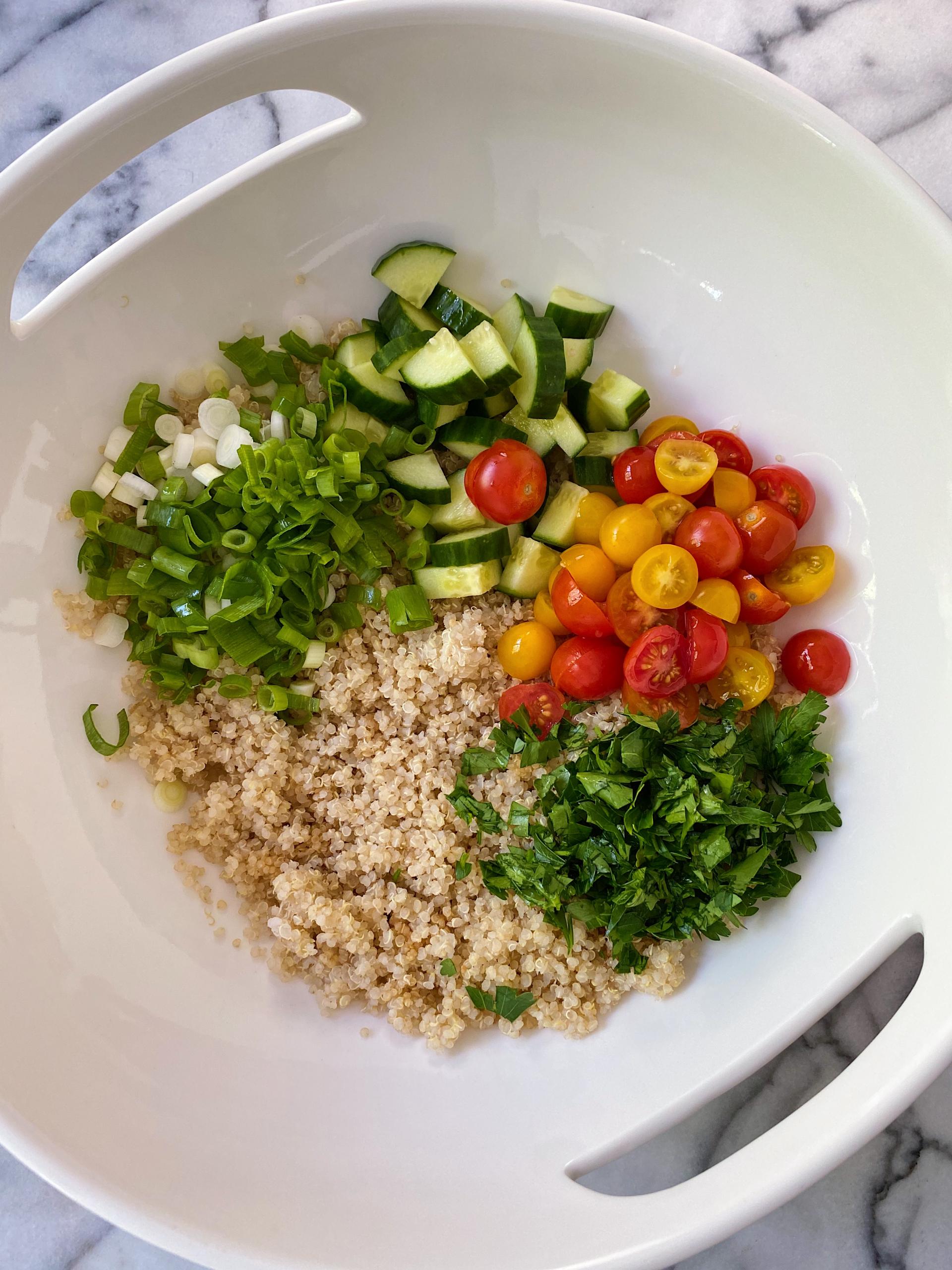 Quinoa Tabbouleh gluten-free www.healthygffamily.com