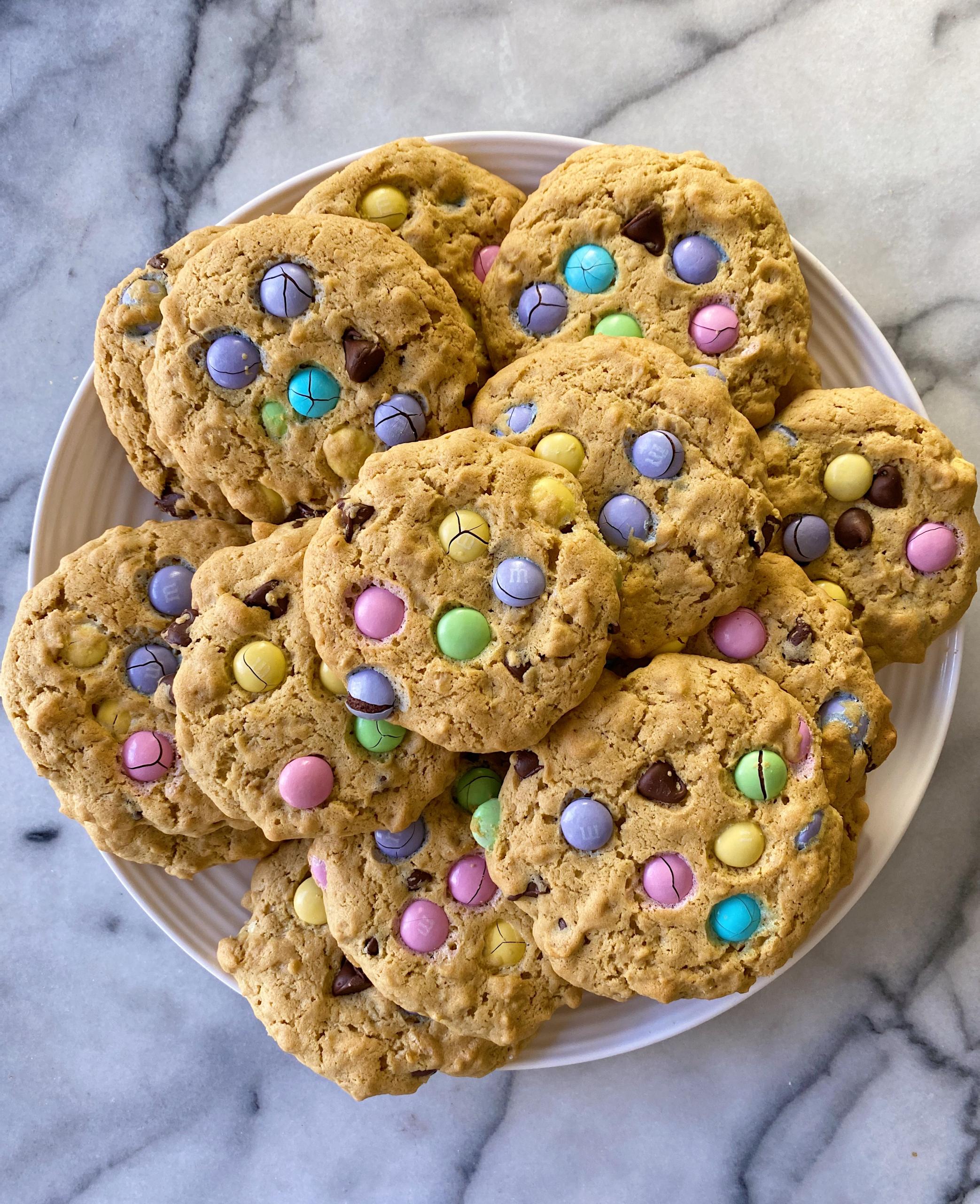 Easy gluten-free monster cookies www.healthygffamily.com