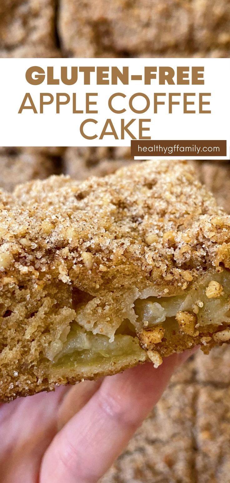 gluten free apple coffee cake #glutenfree #glutenfreerecipes www.healthygffamily.com