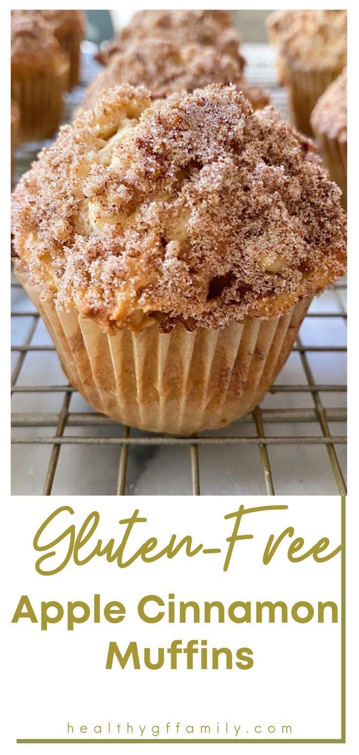 gluten free apple cinnamon muffins www.healthygffamily.com