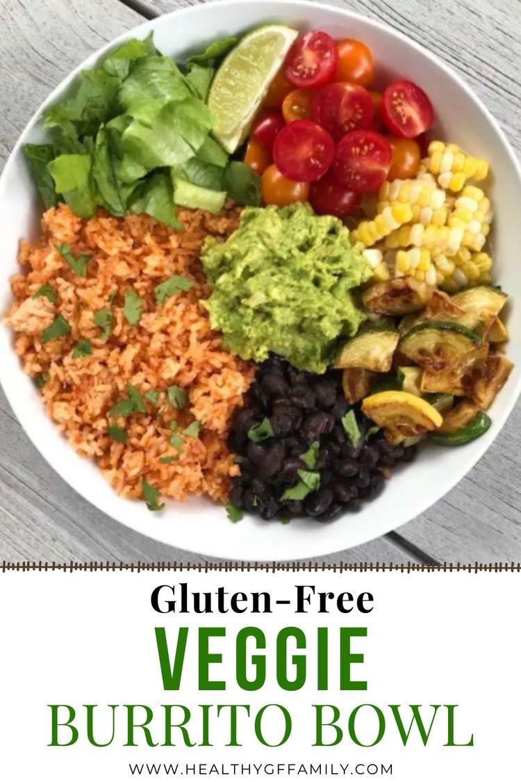 Mexican Rice Veggie Burrito Bowls gluten free #glutenfreerecipes www.healthygffamily.com