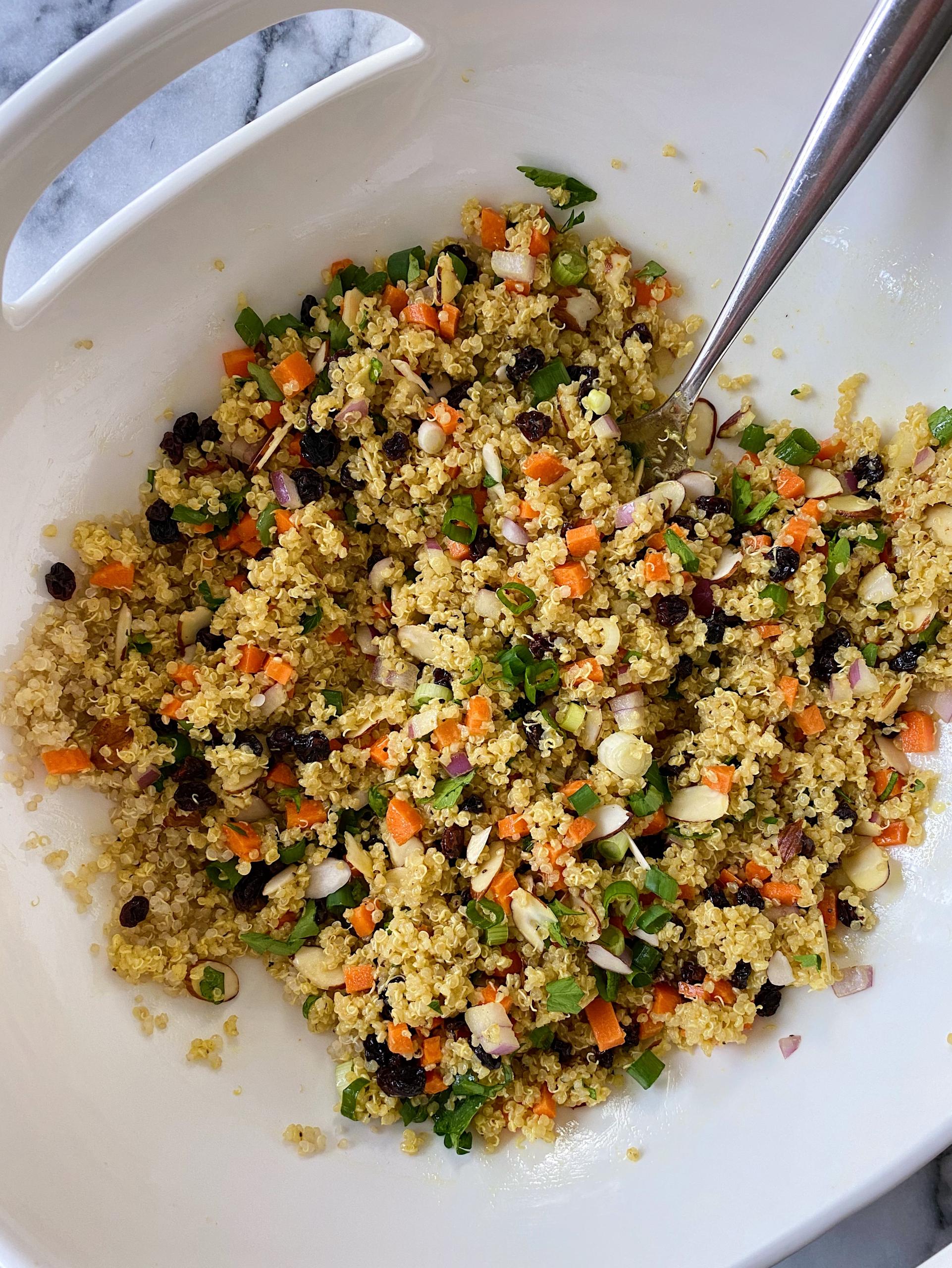 gluten free curried quinoa salad #glutenfree www.healthygffamily.com