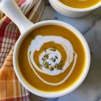 Easy Pumpkin Bisque gluten free vegan #glutenfree #glutenfreerecipes www.healthygffamily.com