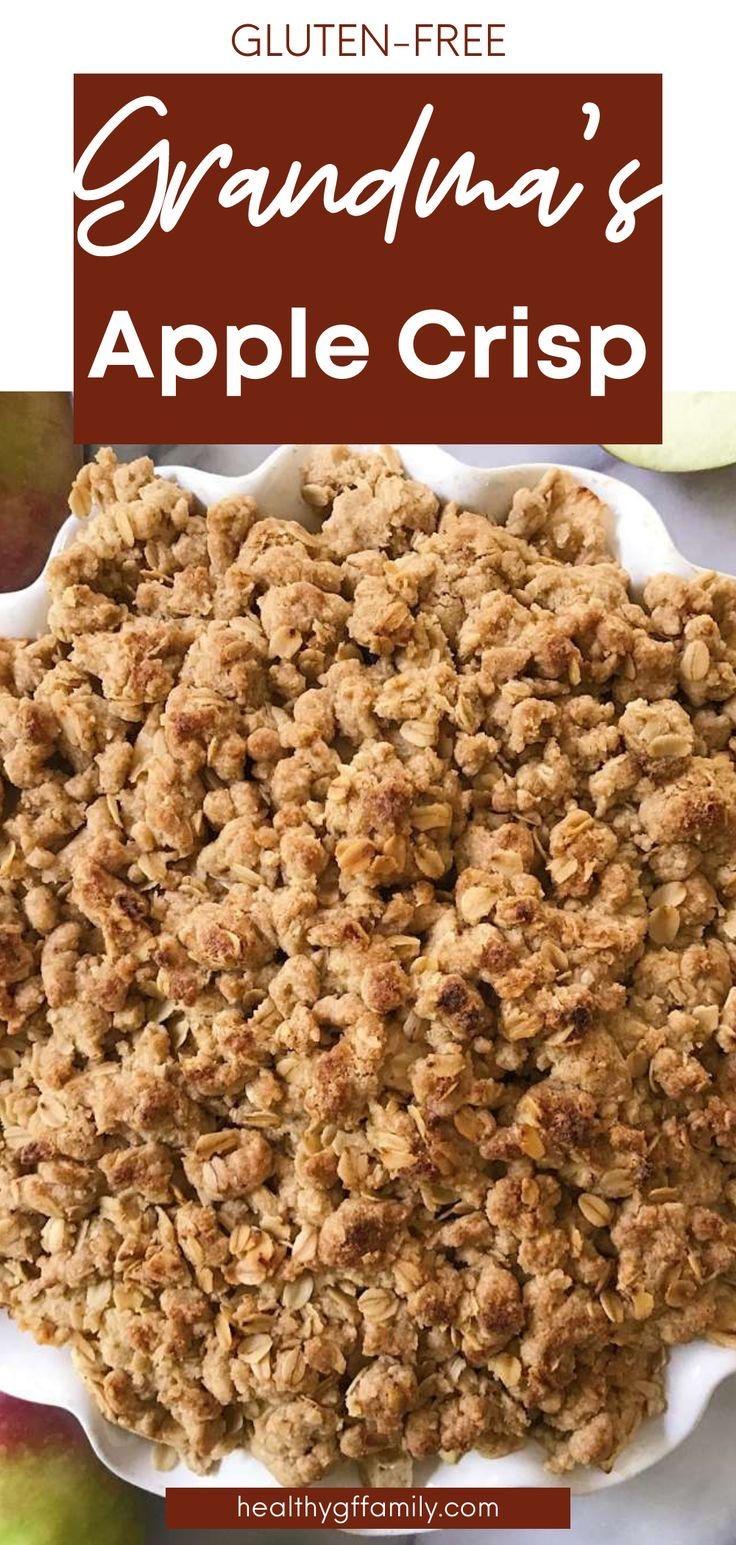 gluten free apple crisp www.healthygffamily.com