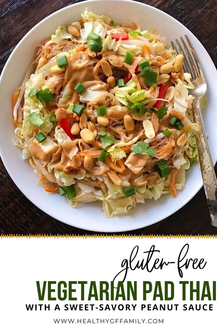 vegetarian pad thai with a sweetsavory peanut sauce