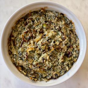 Warm Spinach Caramelized onion dip gluten free #glutenfreerecipes www.healthygffamily.com