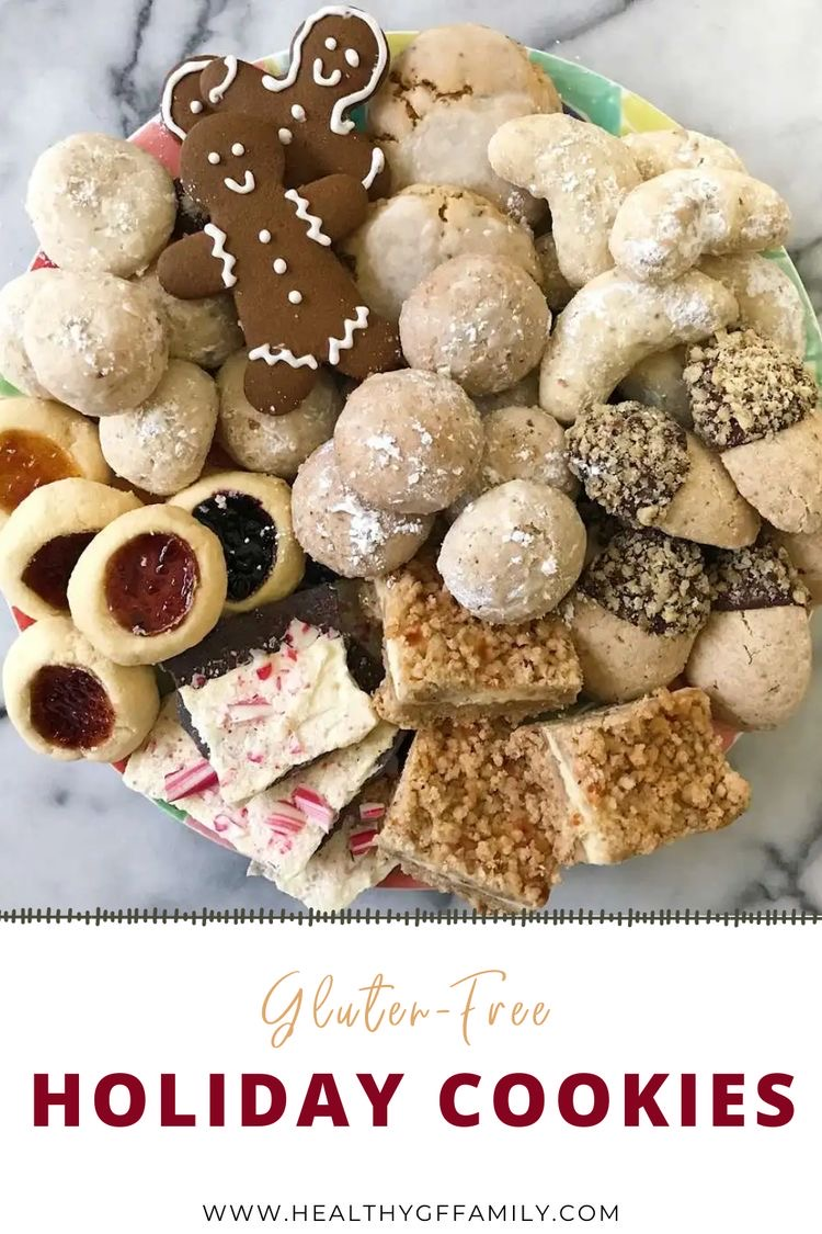 gluten free holiday cookies #glutenfreerecipes www.healthygffamily.com