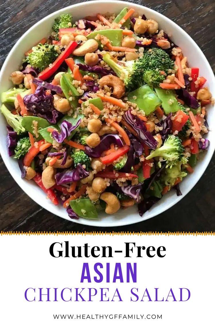 gluten free asian chickpea salad #glutenfree #glutenfrecipes www.healthygffamily.com