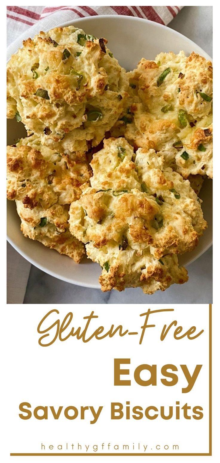 Easy Savory gluten free biscuits #glutenfreerecipes www.healthygffamily.com