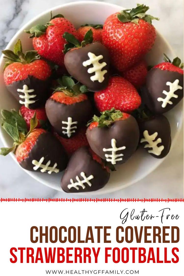 chocolate covered strawberry footballs gluten free #glutenfreerecipes www.healthygffamily.com