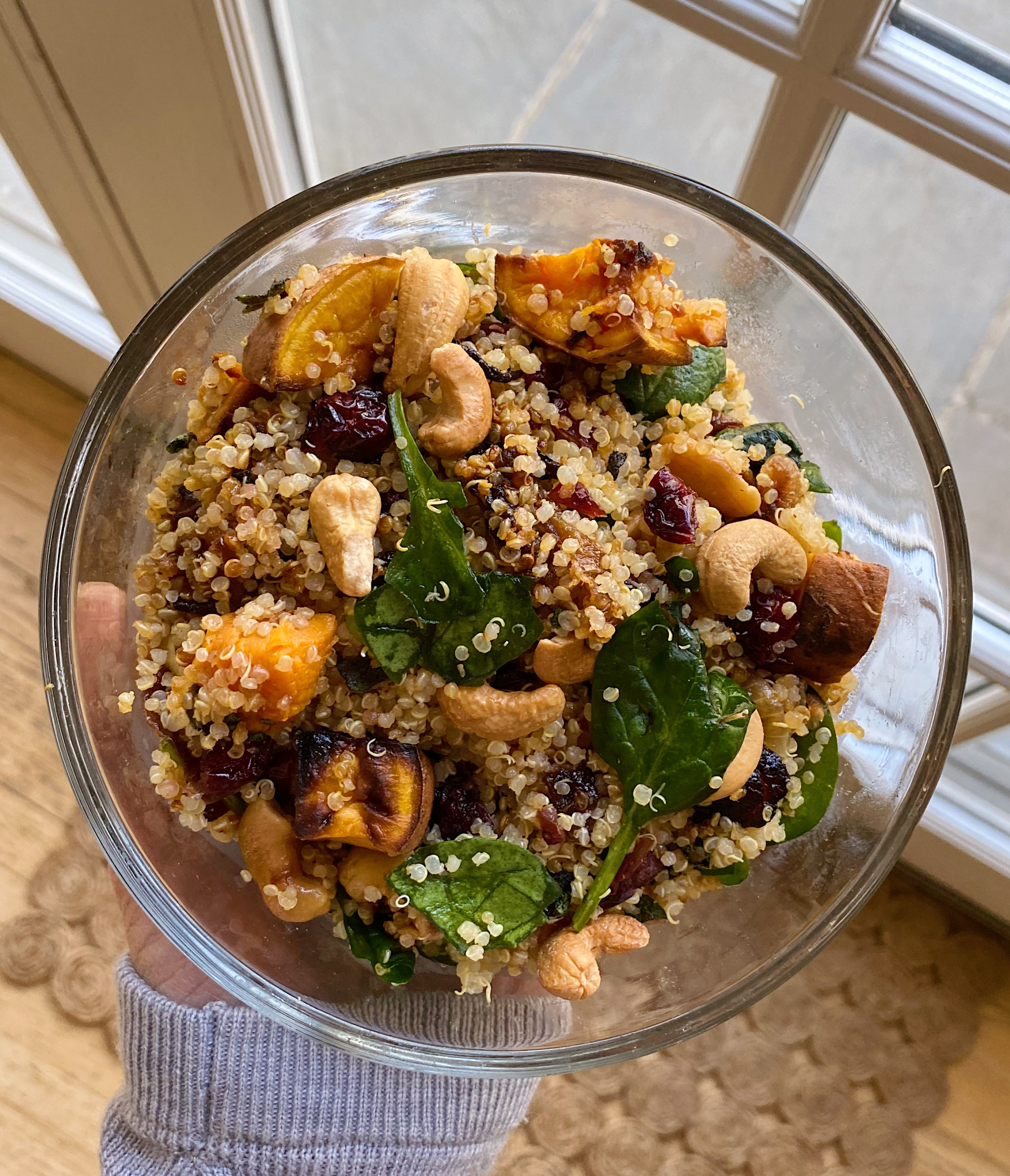 Quinoa Salad sweet potato caramelized onions gluten free squash warm #glutenfreerecipes www.healthygffamily.com
