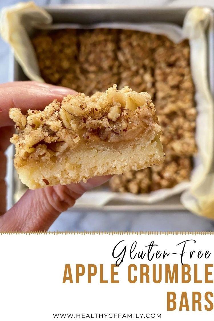 Apple Crumble Bars gluten free vegan #glutenfreerecipes www.healthygffamily.com