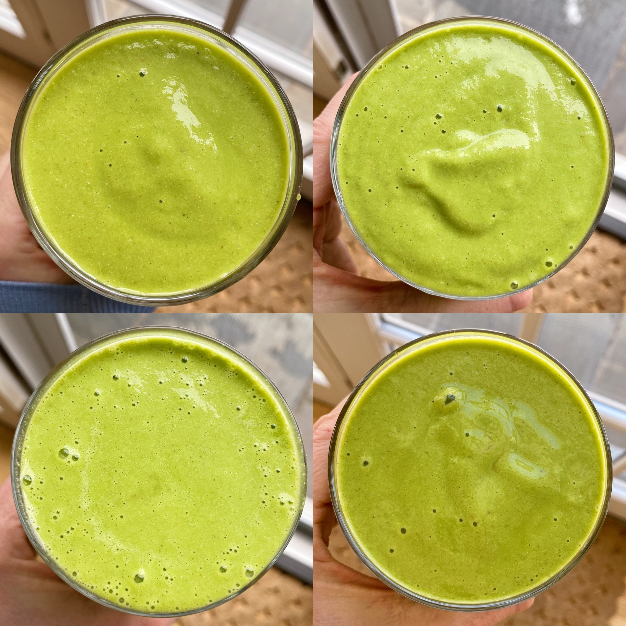 Simple Tropical green smoothie recipe gluten-free #glutenfreerecipes www.healthygffamily.com