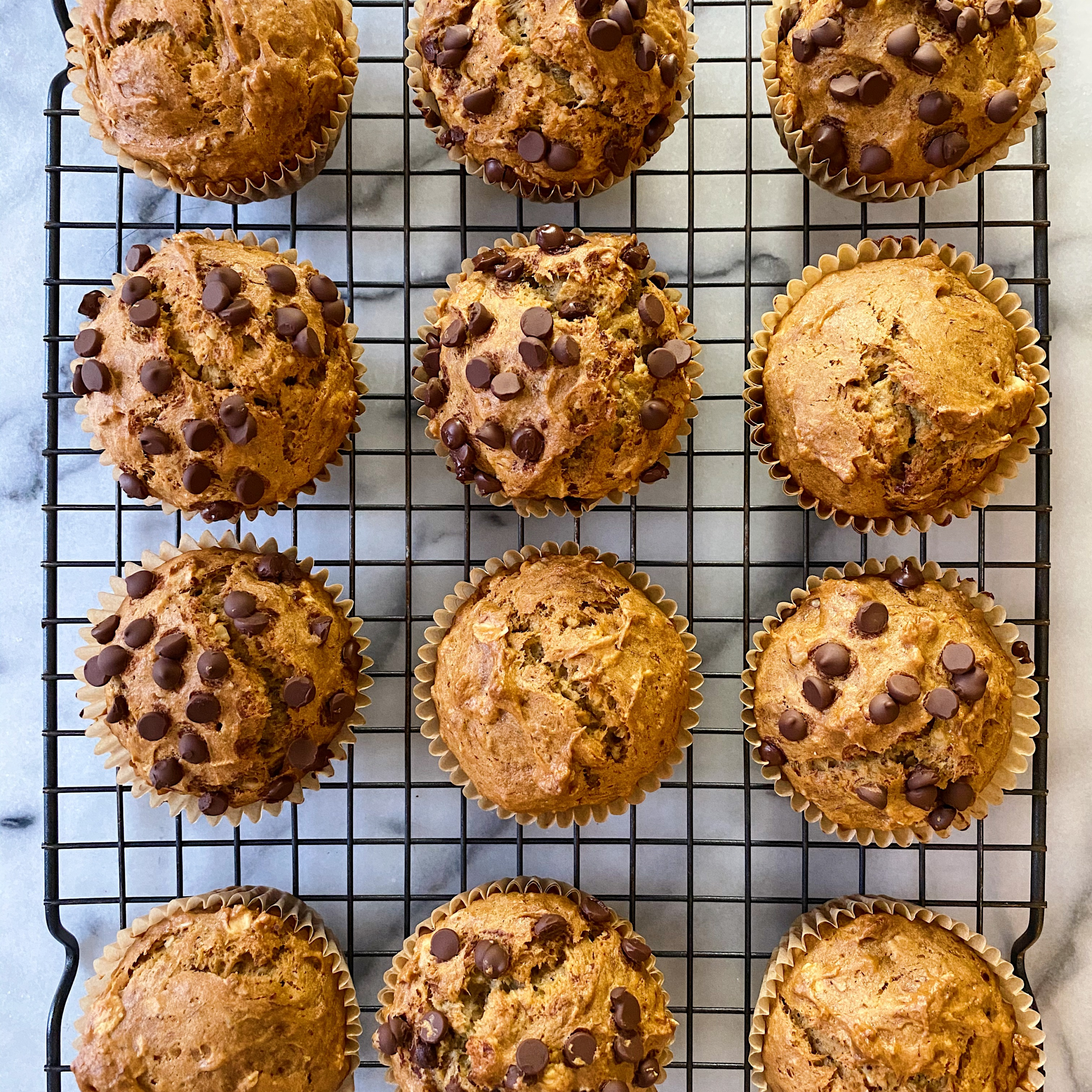 gluten-free chocolate chip banana muffins easy recipe