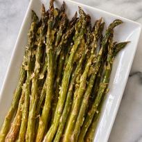 Easy Roasted Parmesan Asparagus gluten free www.healthygffamily.com