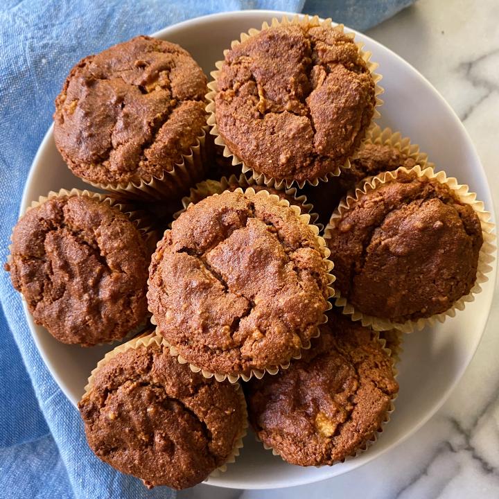 one bowl almond flour morning glory muffins easy recipe gluten free www.healthygffamily.com