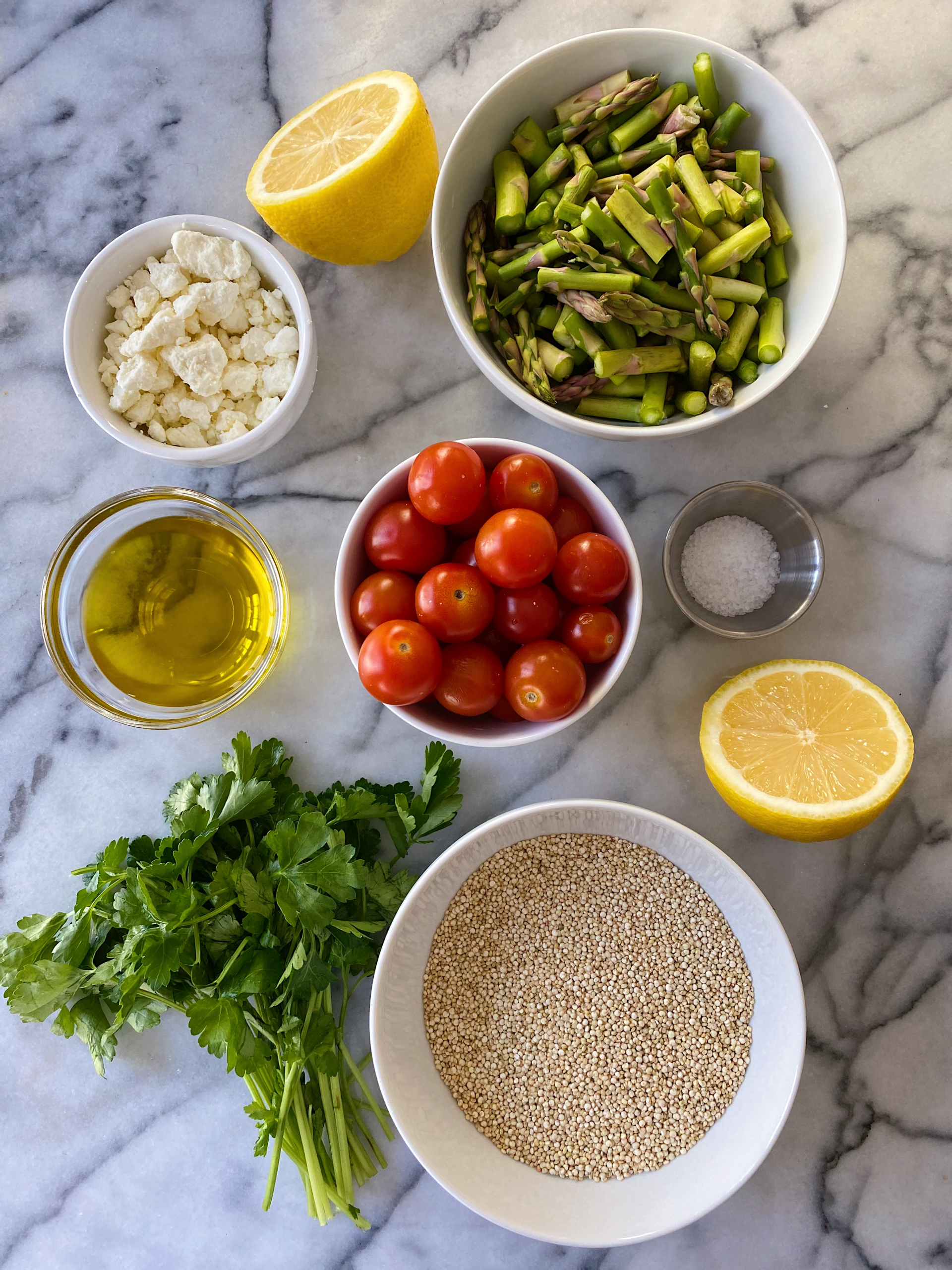 Spring Quinoa Salad Asparaugs Tomatoes Easy Recipe gluten free #glutenfreerecipes www.healthygffamily.com