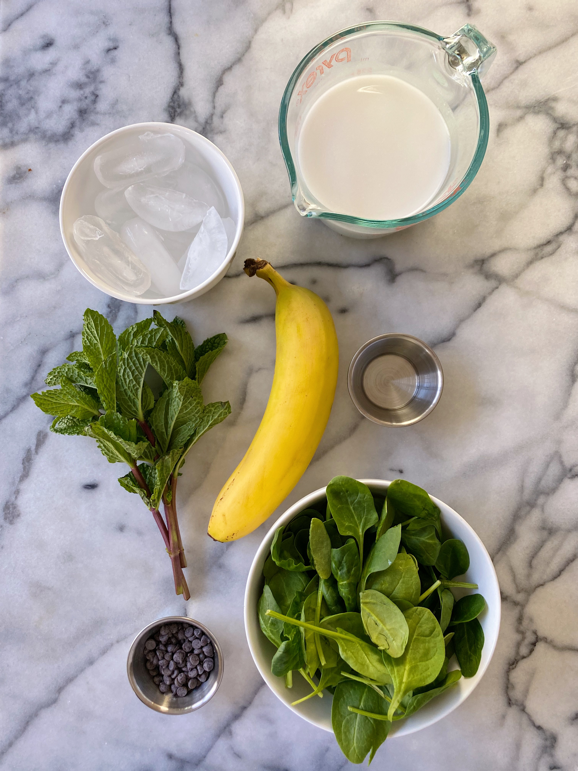 mint chocolate chip smoothe simple recipe gluten-free www.healthygffamily.com