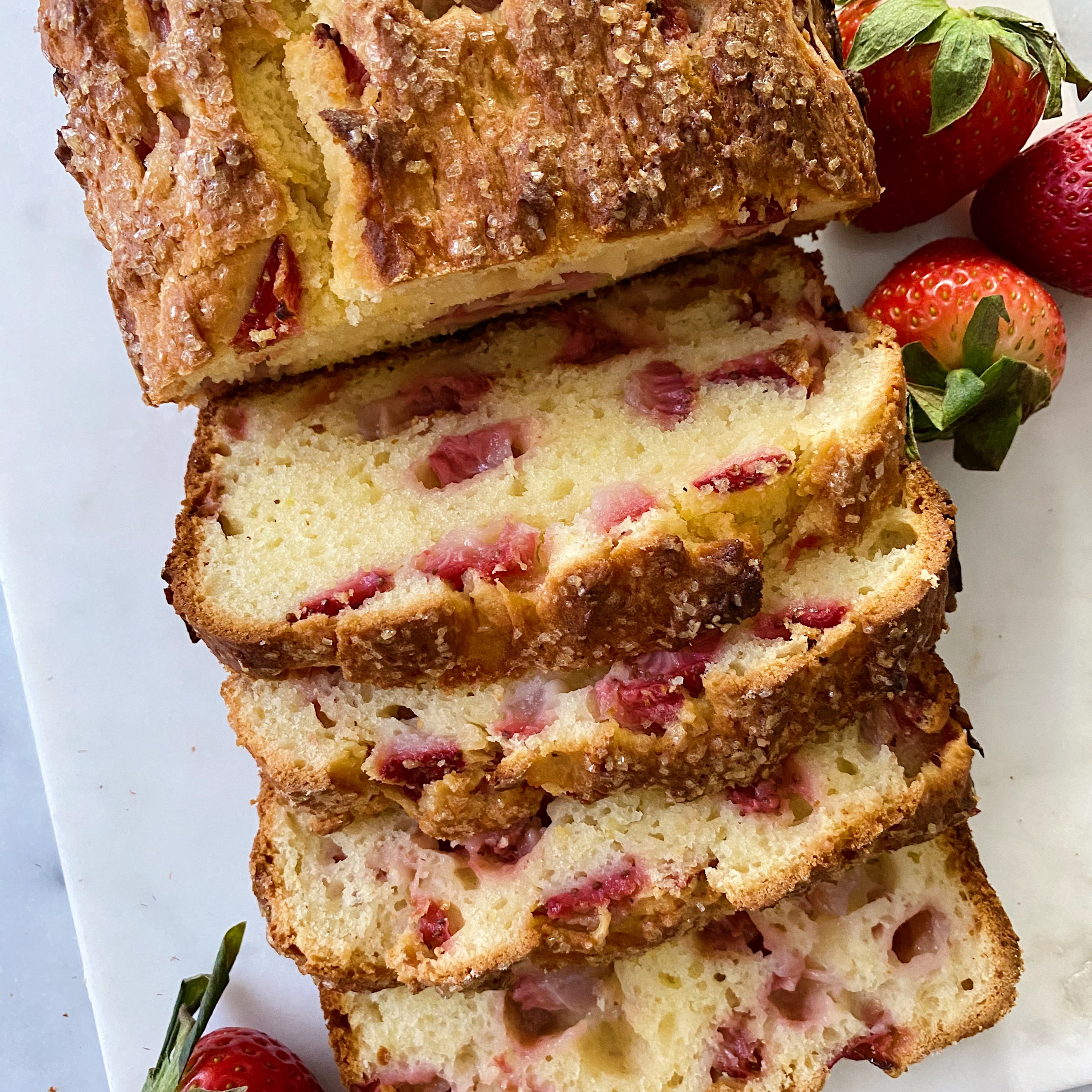 gluten-free Strawberry Lemon Loaf easy recipe www.healthygffamily.com