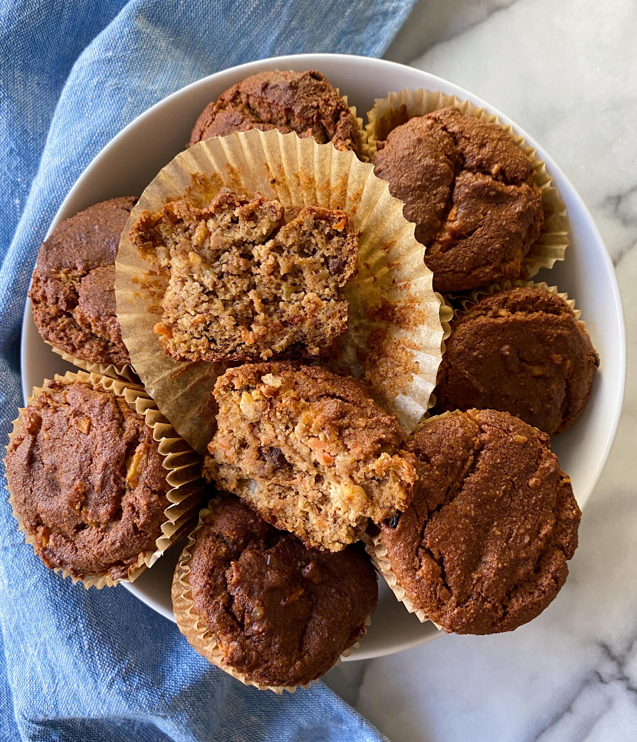almond flour morning glory muffins easy recipe gluten free www.healthygffamily.com