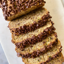 Zucchini Banana Bread gluten free easy www.healthygffamily.com
