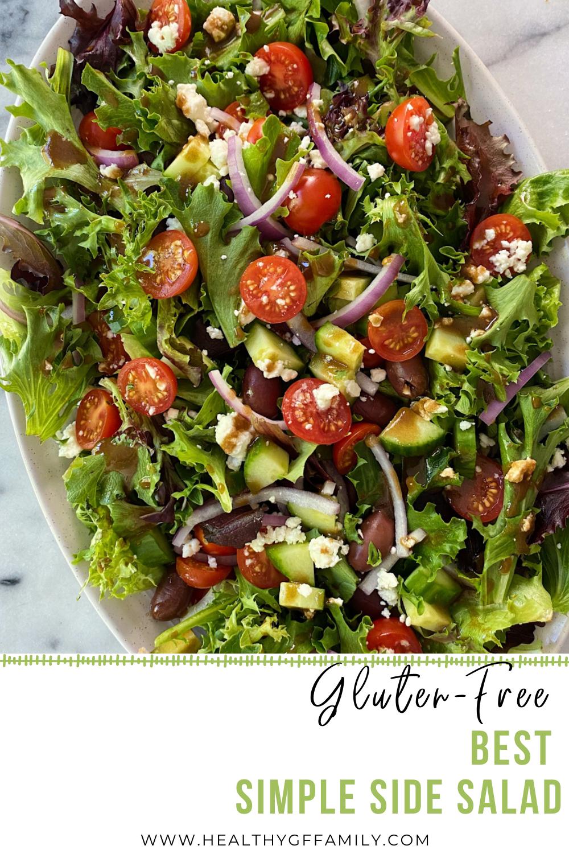 Best Simple Side Salad gluten-free Easy Recipe www.healthygffamily.com