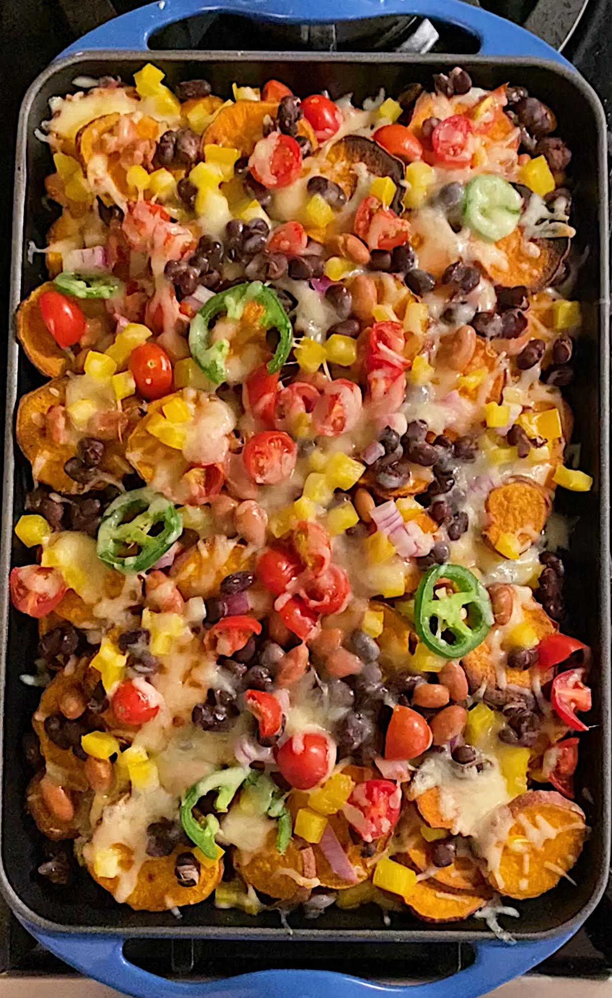 sweet potato nachos easy gluten free www.healthygffamily.com