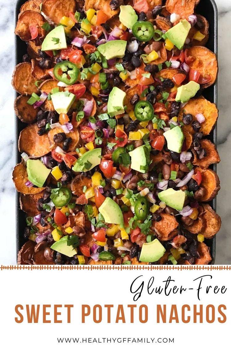 sweet potato nachos gluten free www.healthygffamily.com