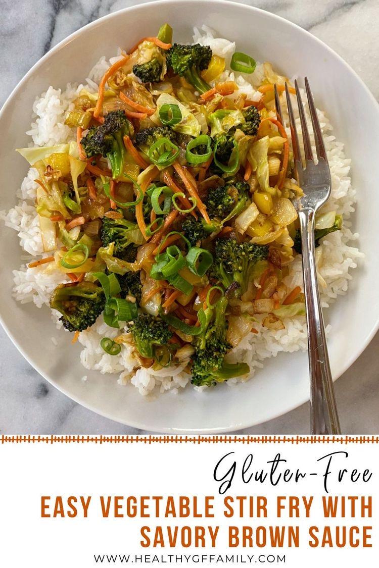 Easy Vegetable Stir Fry gluten-free www.healthygffamily.com