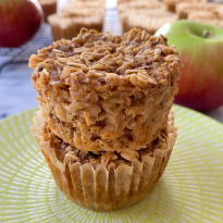 Apple Cinnamon Baked Oatmeal Cups gluten free www.healthygffamily.com