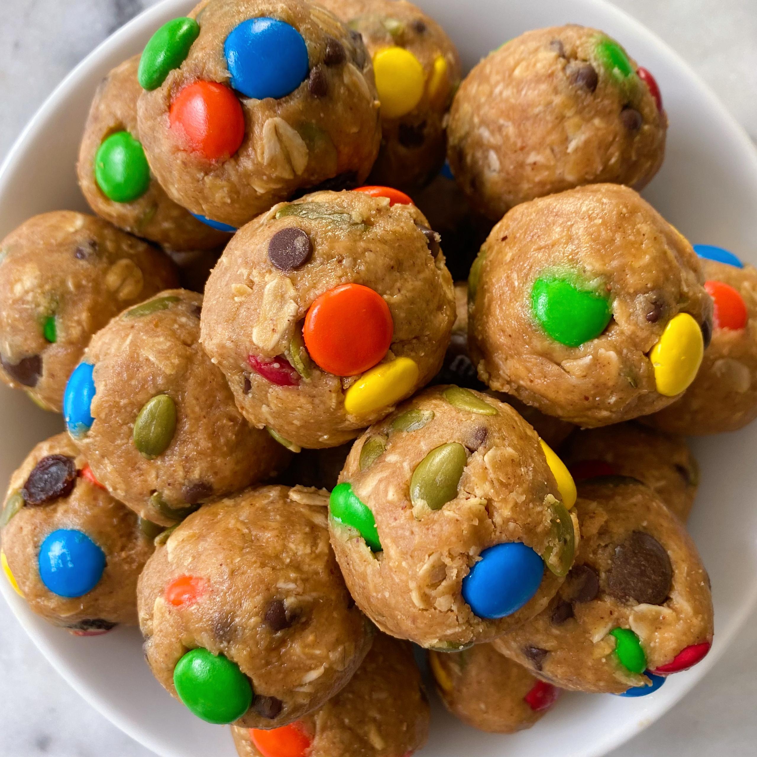 No Bake Monster Cookie Bites gluten free www.healthygffamily.com